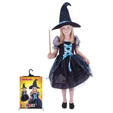 dětský kostým Čarodějnice tmavá velikost M