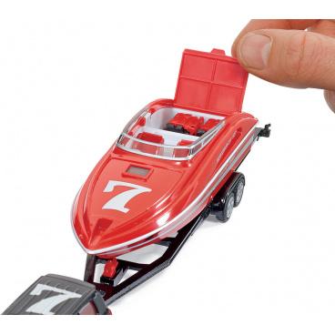 SIKU Super - Osobní vozidlo s motorovým člunem, 1:55