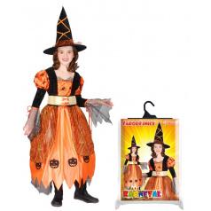 Rappa Dětský kostým čarodějnice/Halloween (S)