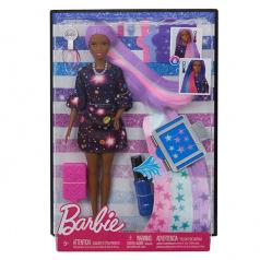 Mattel Barbie s žužu vlasy černoška