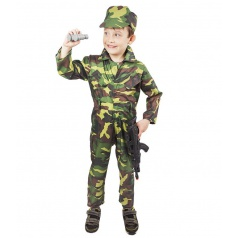 Dětský karnevalový kostým ARMY - voják, dětský vel. L