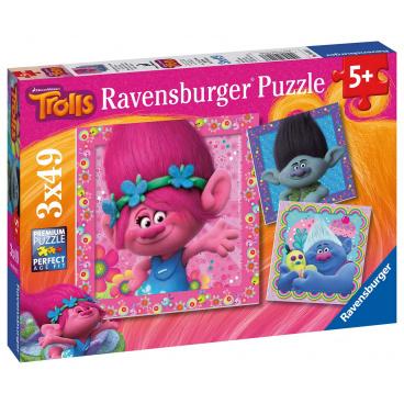 Ravensburger dětské puzzle Trollové 3 x 49 dílků