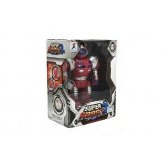Teddies Robot bojovník chodící plast 23cm na baterie se světlem se zvukem v krabici 22x30x13cm