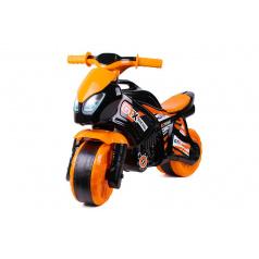 Teddies Odrážedlo motorka oranžovo-černá plast v sáčku 35x53x74cm 24m+