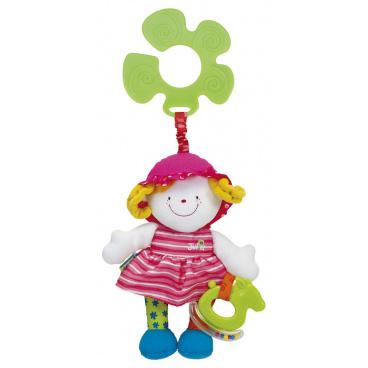 K´s Kids Úchyt na kočárek - veselá panenka Julia