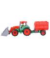 Truxx Traktor s přívěsem na seno, ozdobný kartón