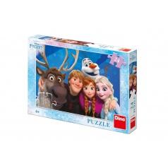 Dino Puzzle Ledové království/Frozen Selfie 24 dílků 26x18cm v krabici 27,5x19x4cm