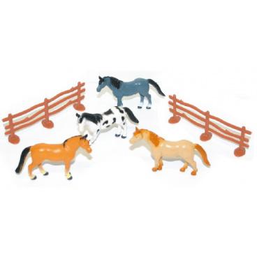 rappa hračky koně 5ks s ohradou