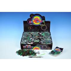 Mikro Trading Udělej si svůj náramek - gumičky 450ks + doplňky mix  barev v sáčku
