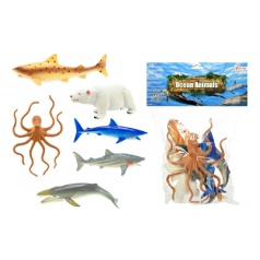 Teddies Zvířátka mořská plast 14cm 6ks v sáčku