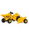 ROLLYTOYS Šlapací traktor - Dumper Kid CAT s vlečkou