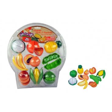 Teddies Krájecí ovoce a zelenina plast 28ks na blistru 32x34x8cm