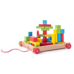 Woody Vozík s kostkami malý - 34 dílů