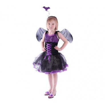 Dětský karnevalový kostým čarodějka netopýrka vel. S