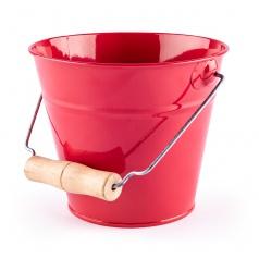 Woody Zahradní kyblík - červený, kov