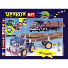 MERKUR - Stavebnice Merkur 017 Kamión, 202 dílů, 10 modelů