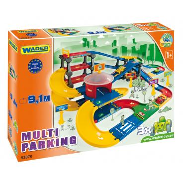 WADER Garáž Kid cars 3D multi parkování 9,1 m v krabici 79x54x14cm