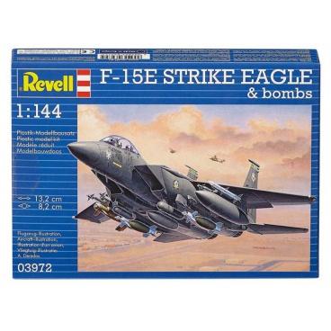 Revell Plastic ModelKit letadlo 03972 - F-15E Strike Eagle & Bombs (1:144)