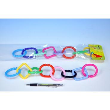 Profibaby Reťaz/zábrana 8 tvarov plast v sáčku od 0 mesiacov