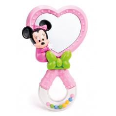 Clementoni Minnie - růžové chrastítko se zrcátkem
