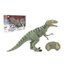 Teddies Dinosaurus chodiace IC velociraptor plast 50cm na batérie so zvukom sa svetlom v krabici 53x32,5x12