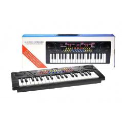 Piánko/Varhany plast 41x16cm 37 kláves na baterie v krabici