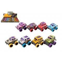 Teddies Auto kov/plast 6cm na zpětné natažení, výběr 8 druhů