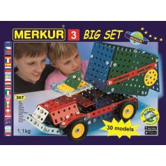 MERKUR - Stavebnice Merkur 3 stavebnice, 307 dílů, 30 modelů