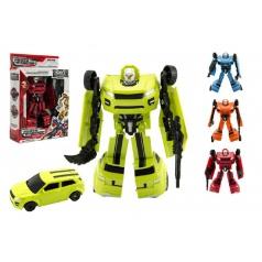 Teddies Robot/auto transformer plast 18cm asst 4 barvy v krabici 19x22x6cm