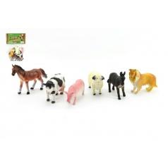 Teddies Zvířátka farma 6ks plast 9cm v sáčku