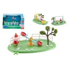 Herní prvky hřiště + figurka Prasátko Peppa plast asst 4 druhy v krabici 28x16x17cm