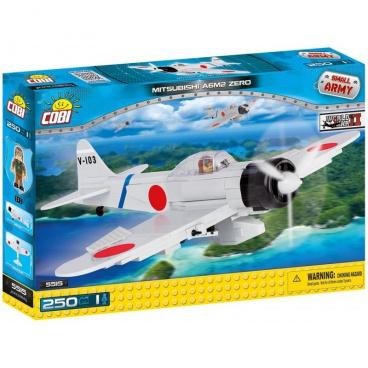 "COBI Small Army stavebnice letadlo WW II Mitsubishi A6M2 ""Zero-Sen"""