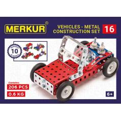MERKUR - Stavebnice Merkur 016 Buggy, 205 dílů, 10 modelů