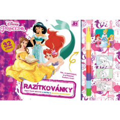 Jiri Models Omalovánka - Razítkovánky Disney Princezny
