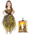 Rappa Dětský kostým čarodějnice/Halloween zlatý (S)