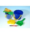 LORI Sada na písek - kbelík, lopatka, bábovka plast v sáčku 12m+