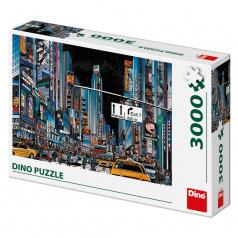 Dino puzle Noční New York 3000D