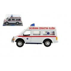 Auto ambulance plast 26cm na setrvačník v blistru