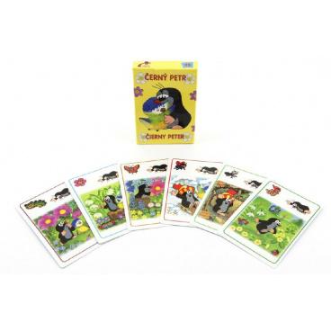 Akim Černý Petr Krtek a sýkorka společenská hra - karty v papírové krabičce 6x9cm