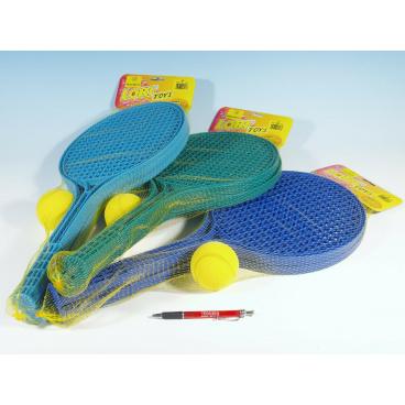 LORI Soft tenis plast barevný+míček 53cm v síťce