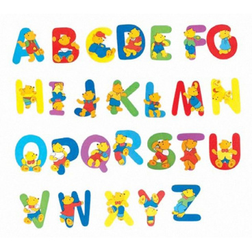 "Woody Písmeno s medvídkem ""Q"""