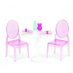 """Our Generation 37268 """"Stolek pro dva"""" - luxusní transparentní stolek se židličkami pro panenky 46cm"""