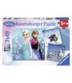 Ravensburger Disney Princess Ravensburger dětské puzzle Ledové království 3 x 49d