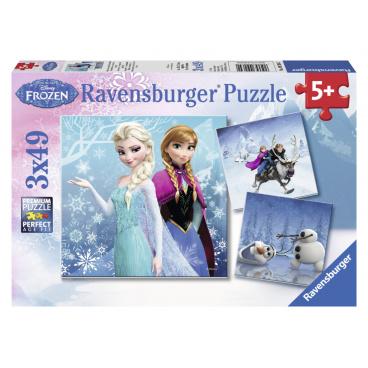 Ravensburger dětské puzzle Ledové království 3 x 49d