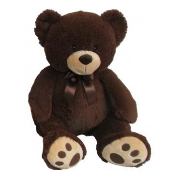 Mac Toys Plyšový medvídek 60 cm, tmavě hnědý