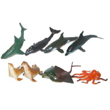 rappa hračky zvířata mořská, 10ks