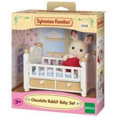 """Sylvanian Families 2205 Nábytek """"chocolate"""" králíků"""" - baby králík v postýlce"""
