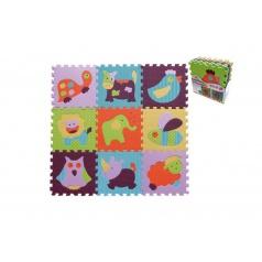 SMT Creatoys Pěnové puzzle zvířátka asst mix barev 9ks 32x32x1cm