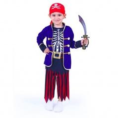 RAPPA hračky Dětský karnevalový kostým pirát dětský, vel. M