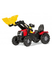 ROLLYTOYS Šlapací traktor Farmtrac Case Puma s předním nakladačem